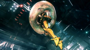 Baby Metroid save samus