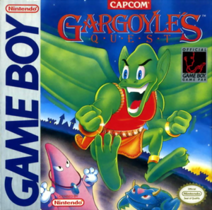 Demon's Crest - Firebrand as he appears on the front box cover of Gargoyle's Quest for the Game Boy