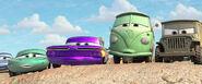 Everyone sees McQueen crash into a cactus patch