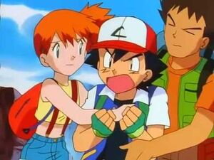 Ash, Misty and Brock (Attack of the Prehistoric Pokémon)