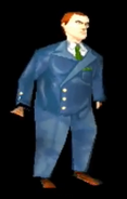 Carnby in the PS1 version of AitD 2