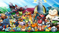 Ash and his Pokemon (pre-Kalos)