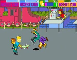Bart in the simpsons arcade