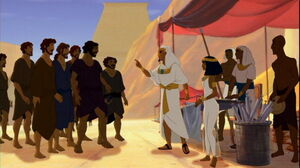 Joseph confronts his Brothers when they arrive in Egypt