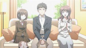 Video of Naegi's family Anime ep1