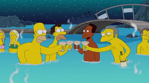 Homer, Carl, Lenny and Moe in Iceland
