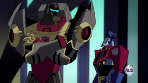 Optimus look at Grimlock