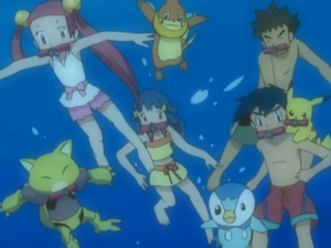 Our Heroes and Mira encounter the Gyarados.