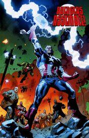 Steven Rogers (Earth-616) wielding Mjolnir