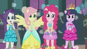 Twilight, Rarity, Fluttershy and Pinkie Pie are beautiful