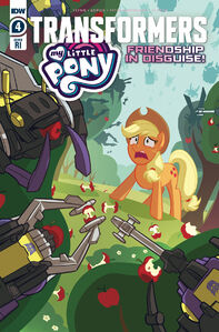 My Little Pony Transformers issue 4 cover RI