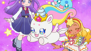 STPC33 Unicorn Fuwa, Prunce, Madoka and Elena in the Eyecatch