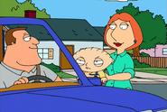 Lois and Stewie meet Joe