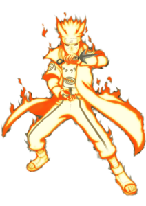 Minato's nine-tails chakra mode