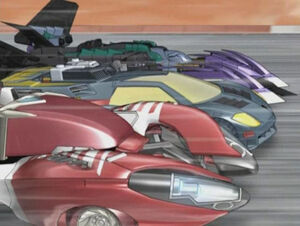Hot shot and Override racing with Megatron