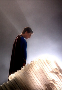 Superman BrandonRouth in the Fortress of Solitude
