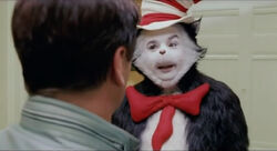 The Cat in the Hat facing Larry Quinn
