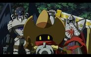 Deputymon, Knightmon and Beelzemon