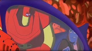 Drix stuffed inside Ozzy's car