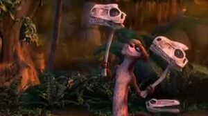 Ice Age 3 Buck Plays with skulls
