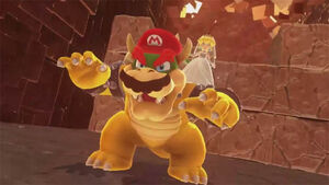 Mario in Bowser's body