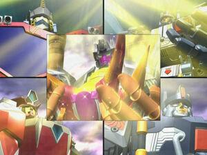 Optimus with Override, Scourge, Evac and Metroplex