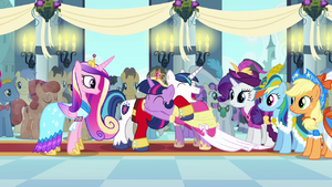 Twilight and Shining Armor laughing and hugging S03E13 1