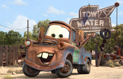 Mater at his junkyard