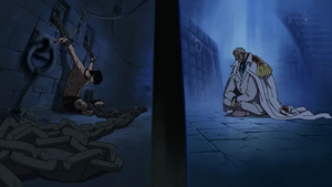 Ace and Garp in Impel Down