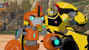 Bumblebee and Fixit (Sweet Solus Prime.)