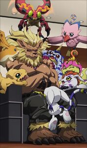 Digimon Adventure tri - Leomon with 8 Digimon partners