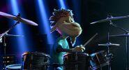 Germur playing drums