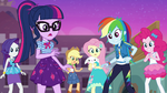 Mane Six surprised by Sunset's rescue EGFF