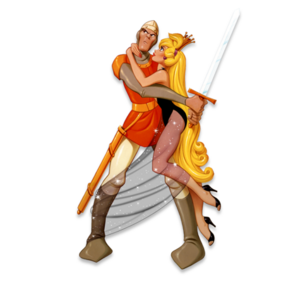 Dirk-and-princess-daphne-Dragons-Lair