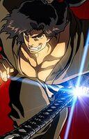 Jubei draws his sword