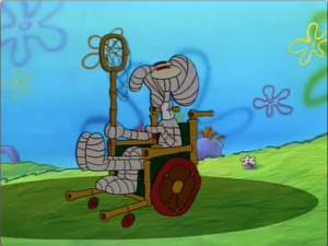 Squidward muffling uh oh