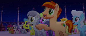 Ponies Cheering for the Mane Six