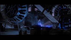 Darth Vader motionless