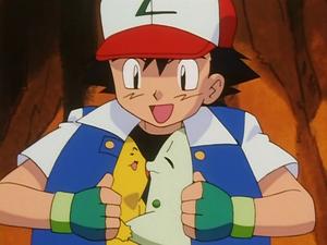 Ash, Pikachu and Chikorita (The Chikorita Rescue)