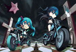 Hatsune miku and black rock shooter vocaloid and 1 more drawn by chiita 0420 f948be3f4040108ee6df5246251fe195