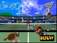 Mario Tennis 64 Baby Mario and Nina Crying