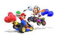 MK8 Deluxe Art - Mario and Inkling