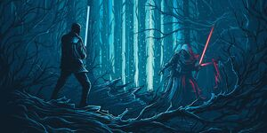 Star Wars TFA IMAX Poster - Finn VS. Kylo Ren