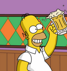 Homer happy