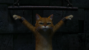 Puss In Boots On Chains In Shrek 2