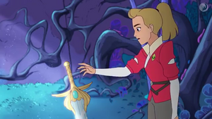 Adora touched the sword