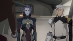 Shiro and Acxa speaks to Olkari Tech