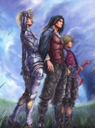 Shulk, Dunban and Fiora
