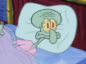 Squidward wake up