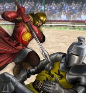 Oberyn Martell fights Gregor Clegane